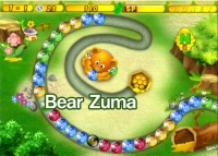 เกมส์ยิงลูกบอลสี bear zuma