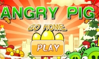 เกมส์แองกี้อู๊ด Angry Pig go home
