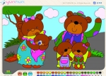 เกมส์ระบายสีครอบครัวหมี
